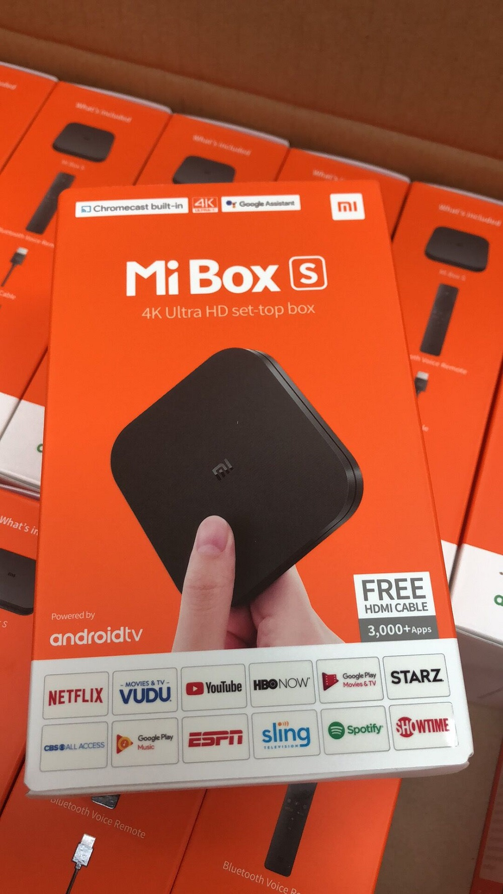 Global Version Xiaomi Mi TV BOX S Mi Box 4 EU US Version Smart 4K Ultra HD Media Player Mijia TV Set-Top Box 2G + 8G Android 8.1