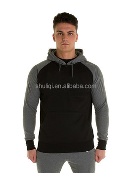 d5c6cb03c Black Fitted pullover hoodie-Contrast, Printed custom chest logo jogger hoodie  pullover