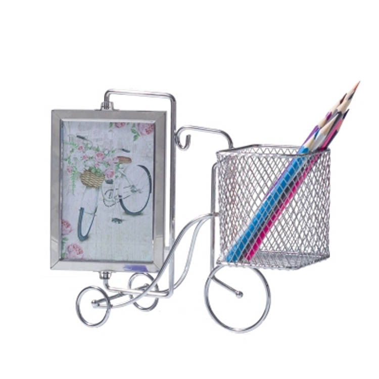 Pen holder with photo frames multi function picture frame