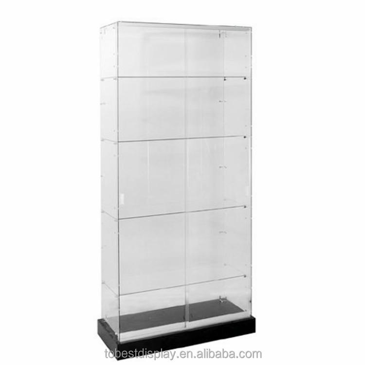 Acrilico senza cornice vetrina in vetro con base nera for Vetrina in vetro