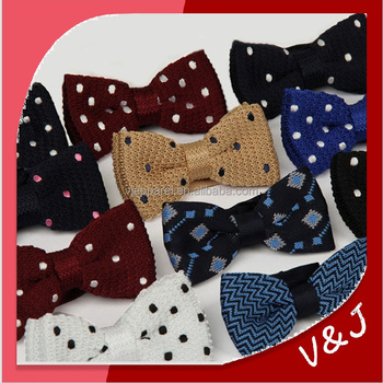Collection Silk Knitting Bow Ties