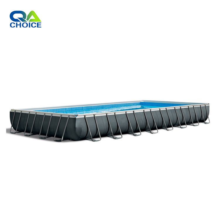Guangzhou Choice Amusement Plato PVC Material  Inflatable Blue Round Swimming Pools