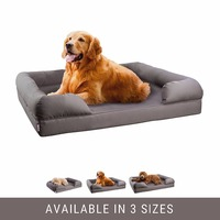 Breathable high quality memory foam filling reversible dog bed sofa for sale