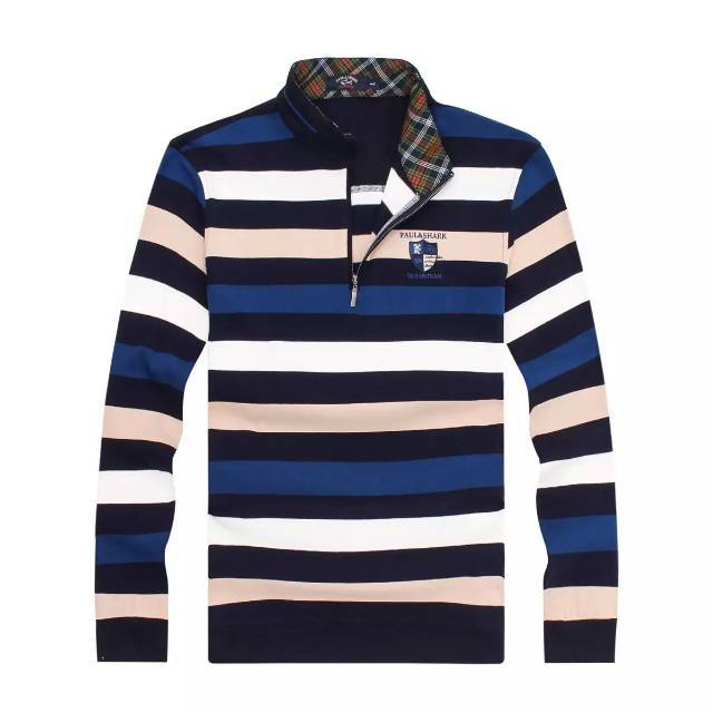 1dbfb310 Get Quotations · New men qiu dong season business foreign trade long sleeve  zipper collar stripe plus-size