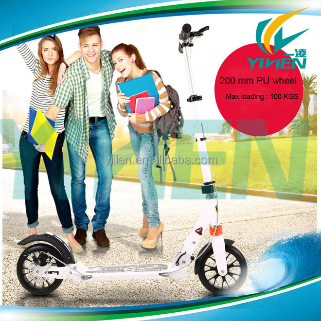 Town rider 200mm big wheel kick scooter for adults