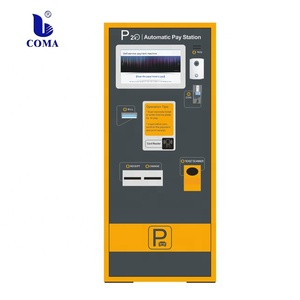Parking payment machine payment coin accepted with thermal printer