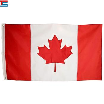 Stoter High Quality 3x5 FT Canada Flag with Brass Grommets,polyester country flag