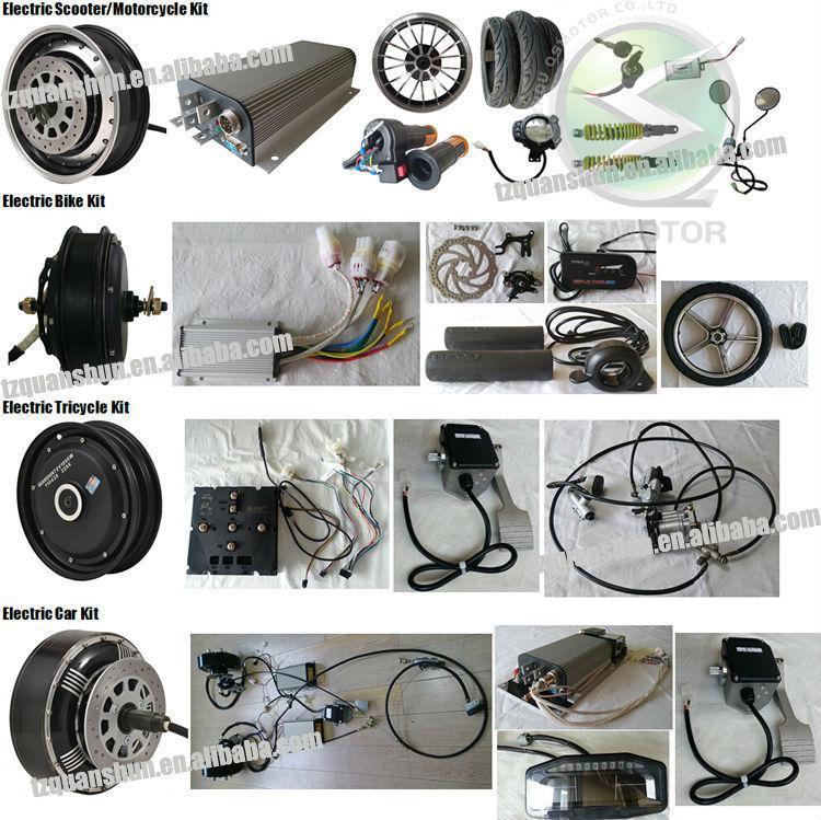 Qs Dual 8kw 8+8kw Hub Motor Electric Hybrid Car Conversion