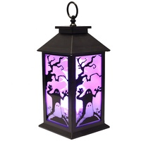Seasonal home outdoor nativity scene flame lantern Halloween led decoration