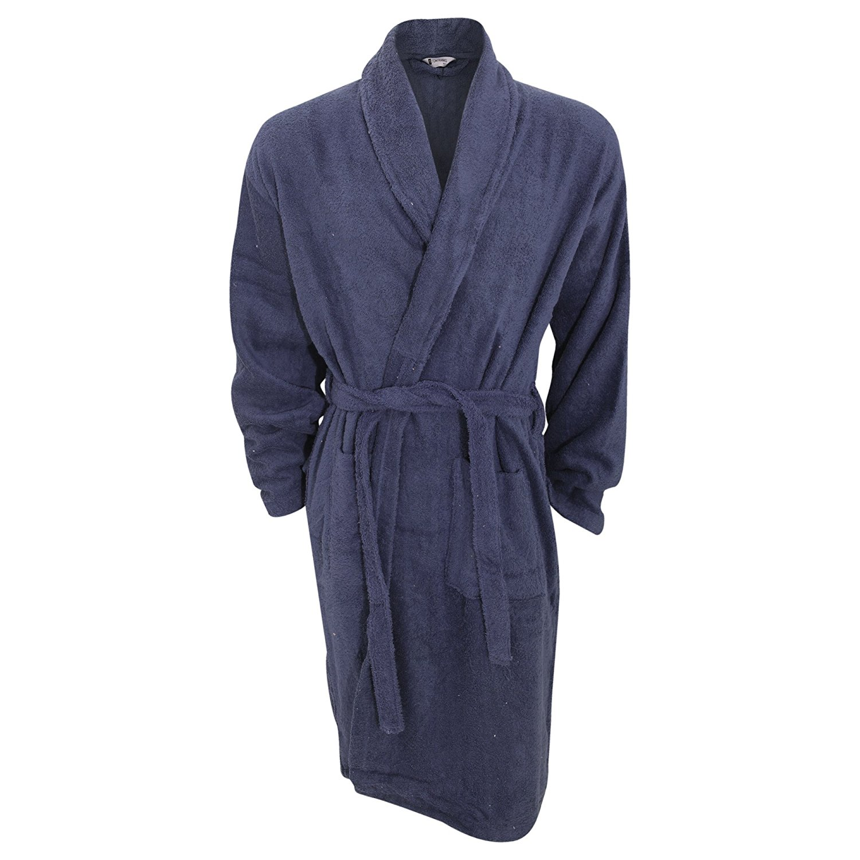 e17c3466ea Get Quotations · Universal Textiles Mens Plain Cotton Towelling Robe Dressing  Gown
