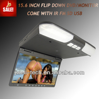 15.6 Inch car satellite tv receiver Flip Down Car Monitor/Roof Mount Car monitor