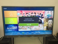 2017 42 inch led tv television with front glass karaoke television SKD