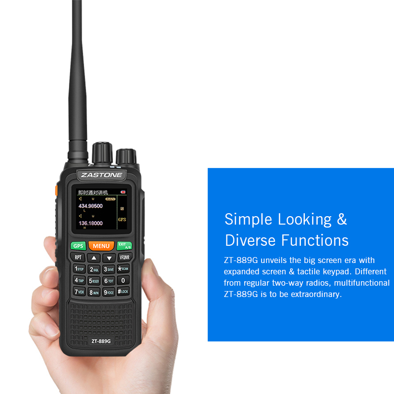 Big Screen Smart GPS satellite walkie talkie for Location Zastone ZT889G