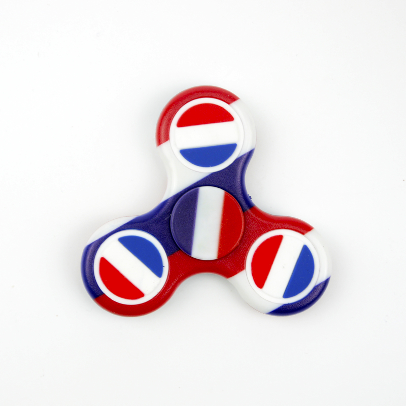 fidget spinner with pvc multi color relieves stress flag of Netherlands iSpin Fidget Spinner Toy//