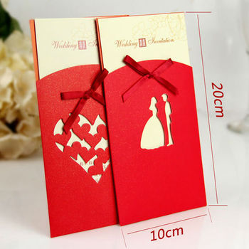 Chinese Stytle Red Envelope Wedding Invitation Card - Buy Wedding ...