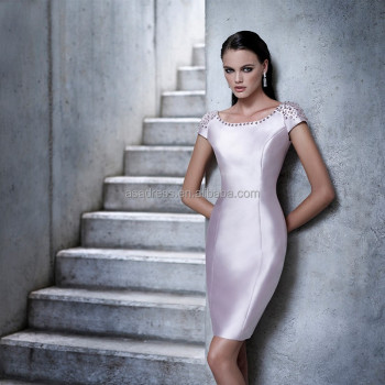 Cr29 Plus Size Lilac Cap Sleeve Groom Mother Of The Bridesmaid Dresses Knee  Length Beaded Evening Dress For Mother - Buy Evening Dress,Beaded Evening  ...