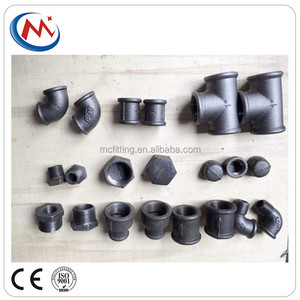 hot sell malleable cast iron pipe fittings tee/elbow/cap/coupling China suppler