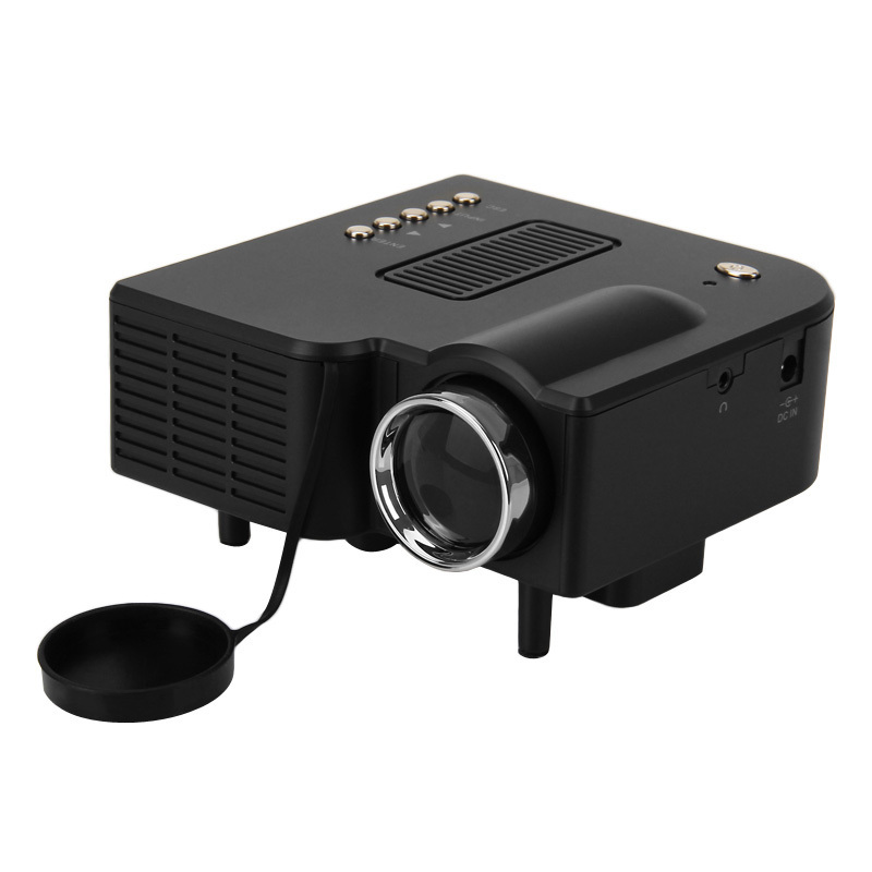 hot freeshiping 2015 hot mini projector led portable projector home theater pc laptop vga usb sd. Black Bedroom Furniture Sets. Home Design Ideas