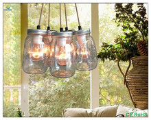 Contemporary Glass Jar Pendant Lamp Lighting Chandelier