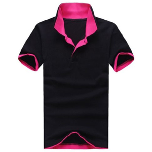 Fashion Men Cotton Short Sleeved Casual Polo Shirt Sport Collar Work Tee T-shirt