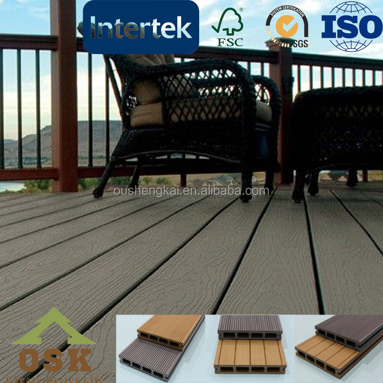 Durable weather-resistant outdoor wpc board decking flooring hot sale