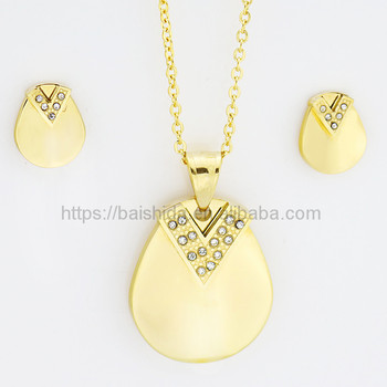 new models 18 k gold zircon artificial jewelry set for men