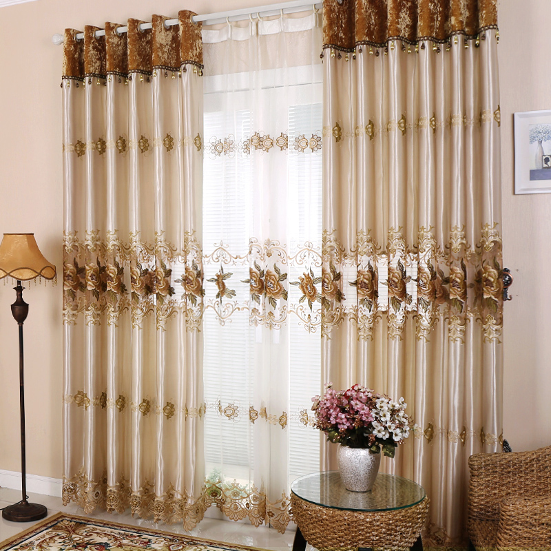 High End Decorative Living Room European Style Luxury: Curtain Customized High End European Style Moden