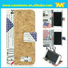 flag leather case for samsung S5,ultra thin leather case for samsung galaxy S5