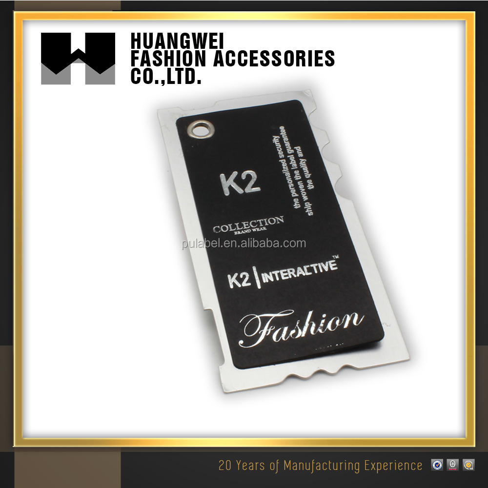 Professional Manufacture Custom Design Paper Swing Hang Tag For Clothing