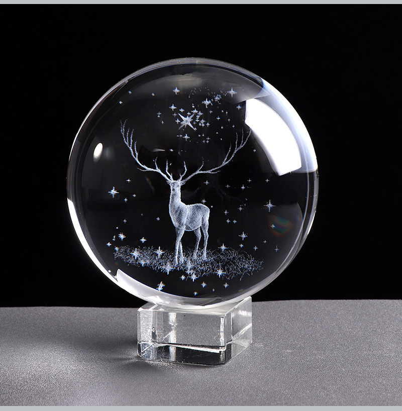 3D crystal ball herten 50*50mm voor wedding party