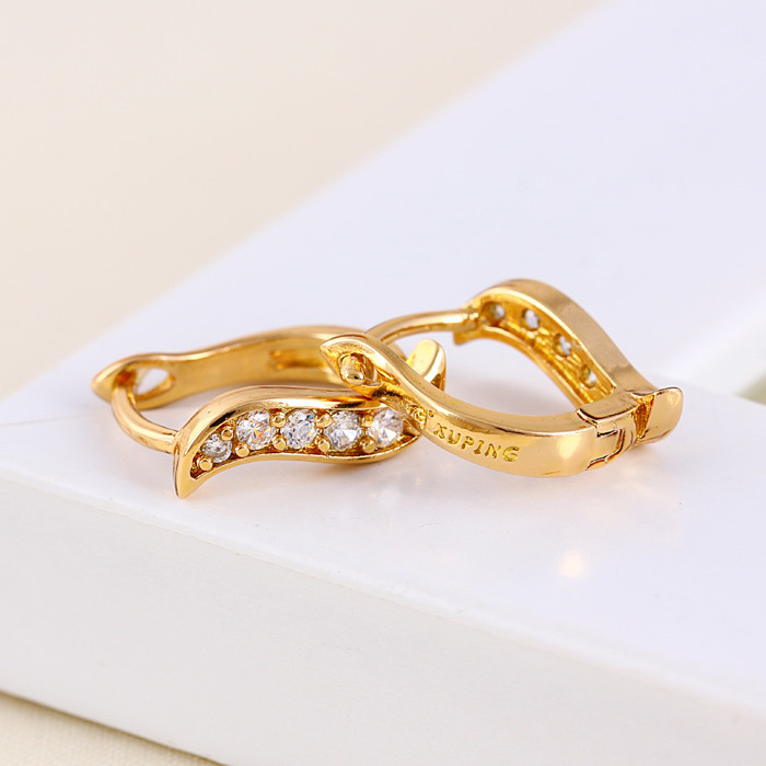 24154 Xuping latest design and fashion gold plated earring