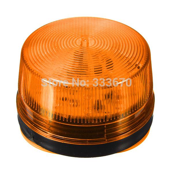 12V Security Alarm Strobe Signal Warn Warning Siren Orange