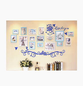 16pcs/set Rose Styles Wall Hanging Photo Frame For Home Decor Wooden Picture Frame Gift For Weeding Photo Frame Wall Sticker