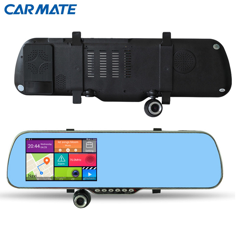 new 5 inch android 4 4 2 rearview mirror gps navigation car anti radar detector car dvr 1080p. Black Bedroom Furniture Sets. Home Design Ideas