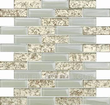 Kristall Mosaik Gemischt Stein Licht Weiß Glasmosaik Für Küche Backsplash