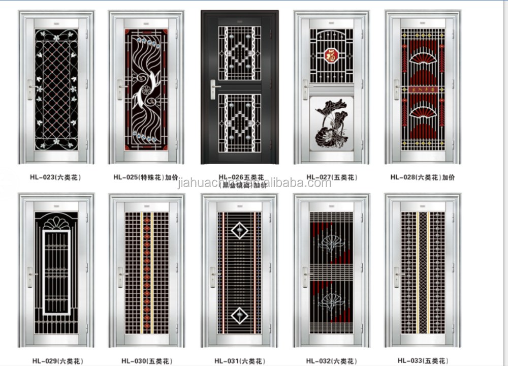 Wonderful Alibaba New Model Stainless Steel Door Design Ready Made Stainless Steel  Door For Apartment Cheap Fire