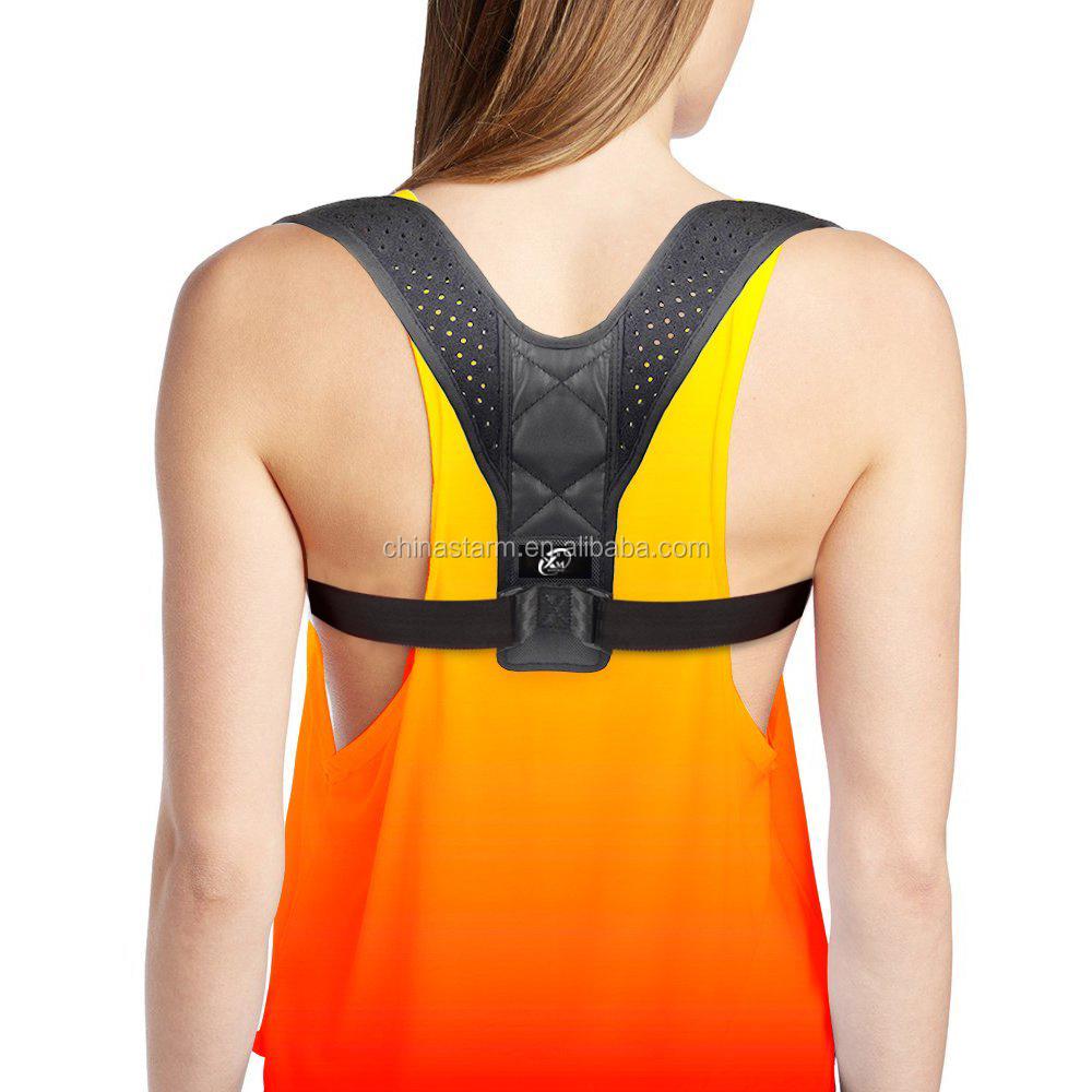 2018 trending productos back brace posture corrector, Black