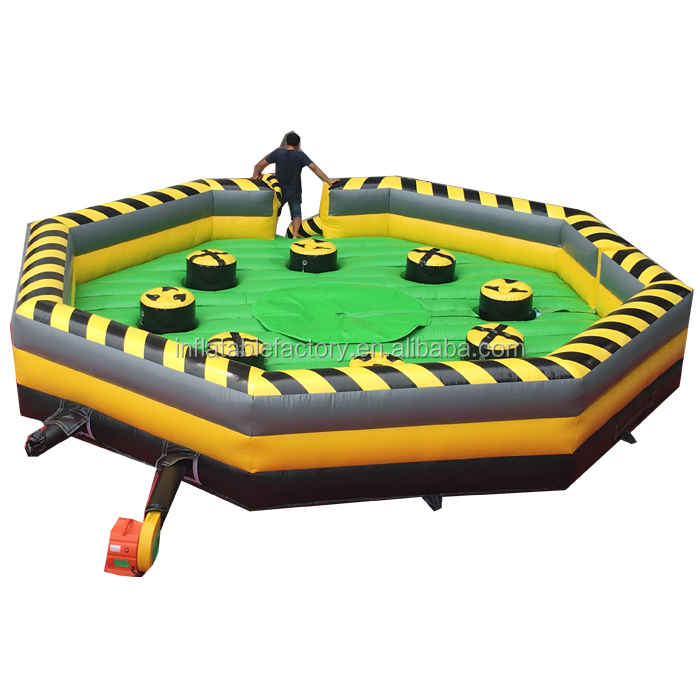 Inflatable Meltdown Challenge  game sweeper wipeout