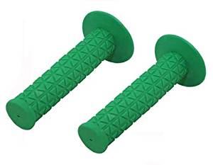 Triangle Grips Green. Bike grips, bicycle grips, bmx grips, lowrider grips, beach cruiser grips, mountain bike grips