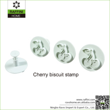 FDA Approval Cherry Plastic Biscuit Cookie Stamp
