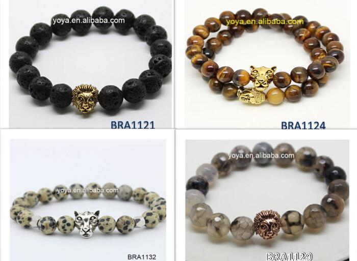 Fashion Bro0809 Bead Bracelet Animal Head Owl Men