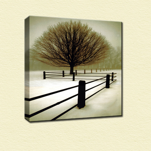 Modern realist winter scenery canvas painting home decoration wall art