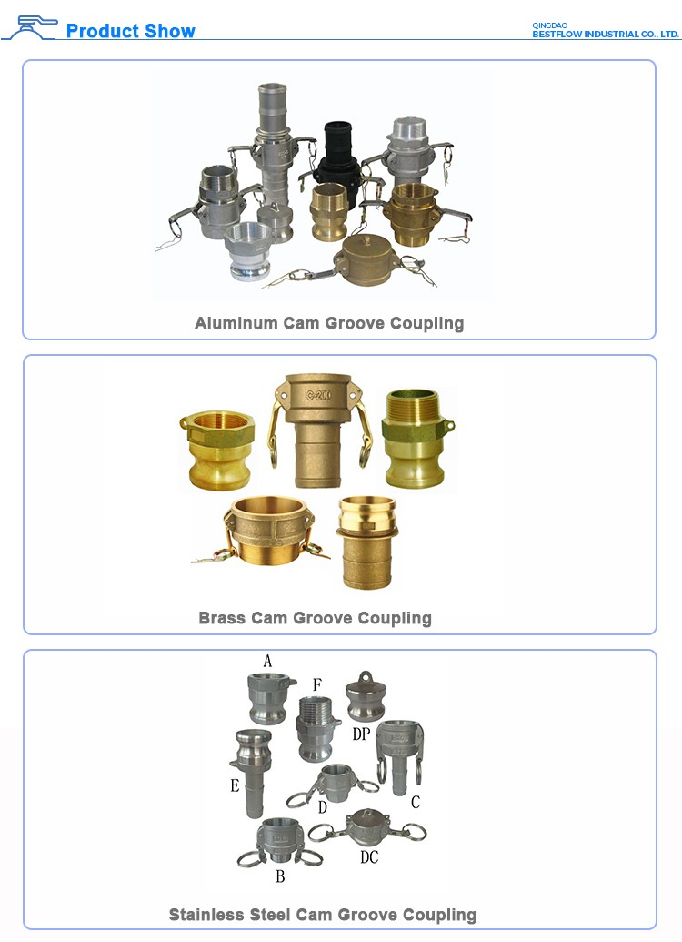 Strict quality requirements top grade forging cam lock cam groove quick connect couplings fitting