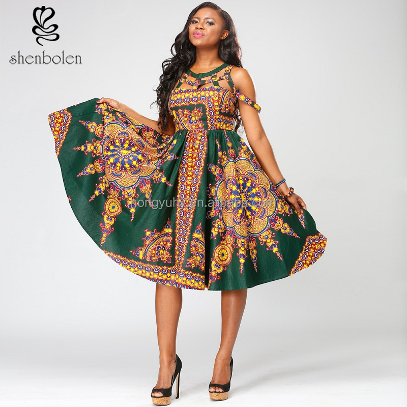 African women dress African wax print fabrics kitenge designs long maxi dress pictures for African dress clothing