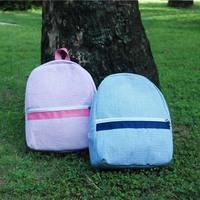 Wholesale Blanks kids Seersucker Cotton Backpack Book Bag Children School Bag DOM103187