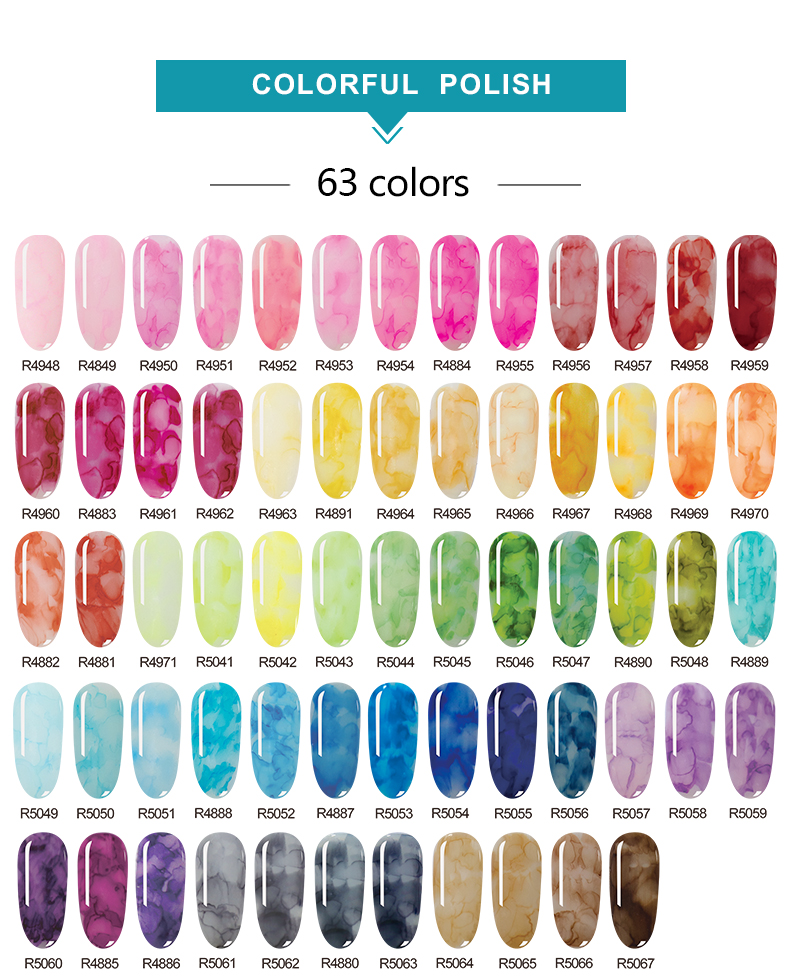OEM New arrival Chinese style gel polish shiny ink nail gel water color vintage super fast drying 1000 colors no need UV light
