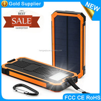 2017 CE ROHS FCC mobile universal waterproof solar power bank 100000mah