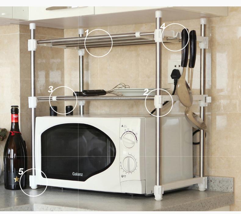 Fuente de la f brica de metal altura ajustable estante - Estante para microondas ...