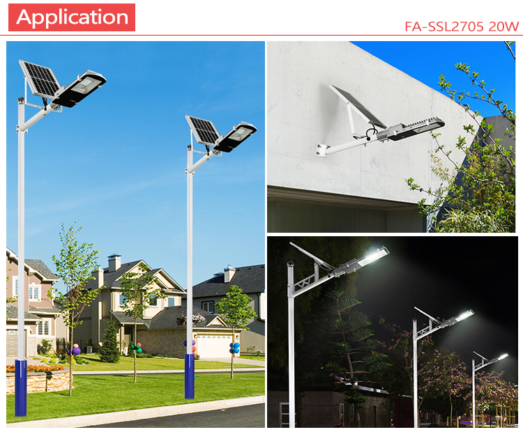 remote high lumen outdoor 10w 20w 30w 50w solar led street light
