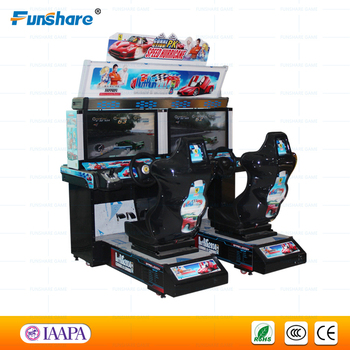 funshare course simulateur de voiture jeu vid o machine outrun arcade machine course borne d. Black Bedroom Furniture Sets. Home Design Ideas